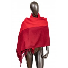 На фото 1 - Шикарный женский палантин из кашемира, цвет красный
