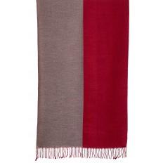 На фото 2 - Платок-палантин из кашемира, цвет бордовый