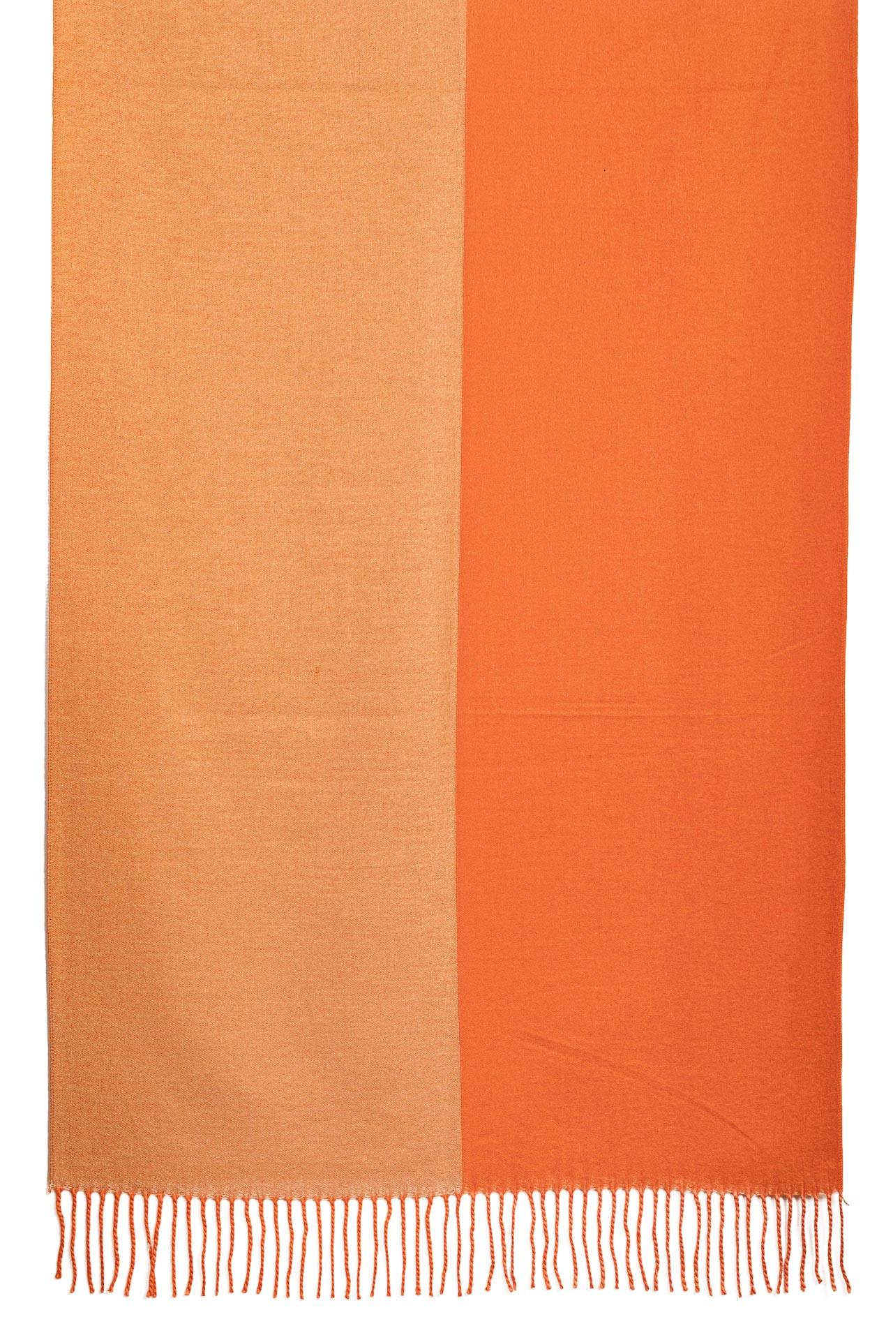 На фото 2 - Платок-палантин из кашемира, цвет рыжий