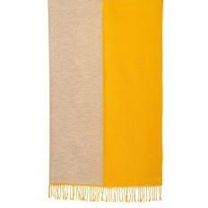 На фото 2 - Платок-палантин из кашемира, цвет желтый