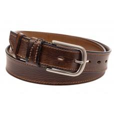 На фото 1 - Кожаный ремень мужской, длина 103 см, цвет коричневый