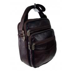 На фото 1 - Кожаная сумка для документов, цвет шоколад