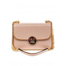 На фото 2 - Каркасная сумка-малышка из натуральной кожи, цвет розовый
