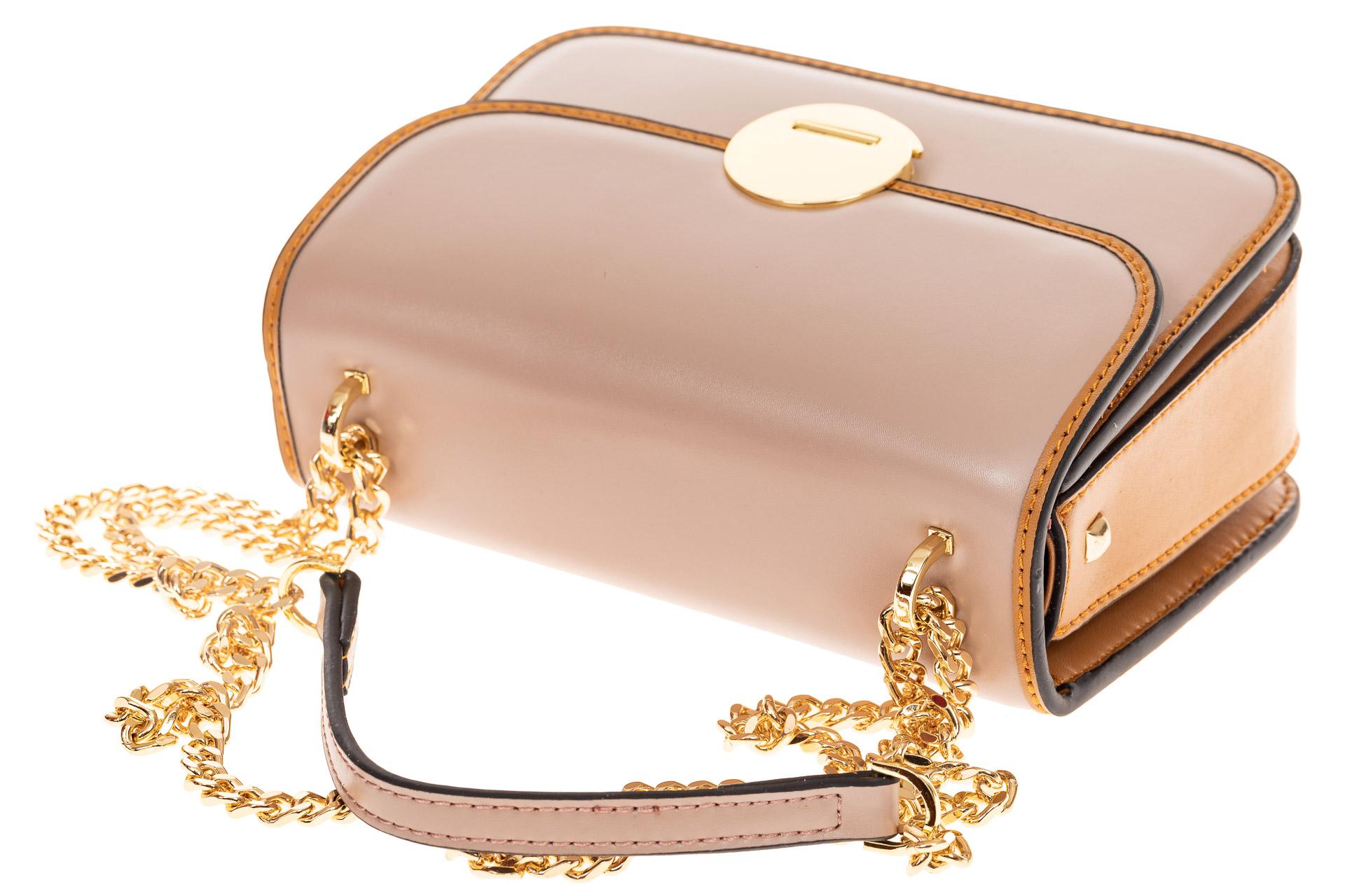 На фото 4 - Каркасная сумка-малышка из натуральной кожи, цвет розовый