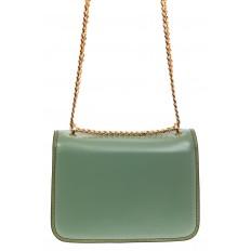 На фото 2 - Каркасная сумка-малышка из натуральной кожи, цвет мята