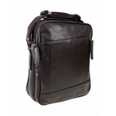 На фото 1 - Мужская деловая сумка из искусственной кожи, коричневый цвет