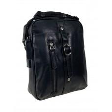 На фото 1 - Мужская деловая сумка из искусственной кожи, черный цвет