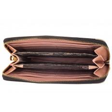 На фото 2 - Женский кошелек-клатч из искусственной кожи, фотопринт духи