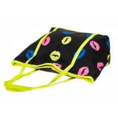 На фото 3 - Пляжная сумка из текстиля, цвет черный