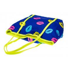 На фото 3 - Пляжная сумка из текстиля, цвет синий