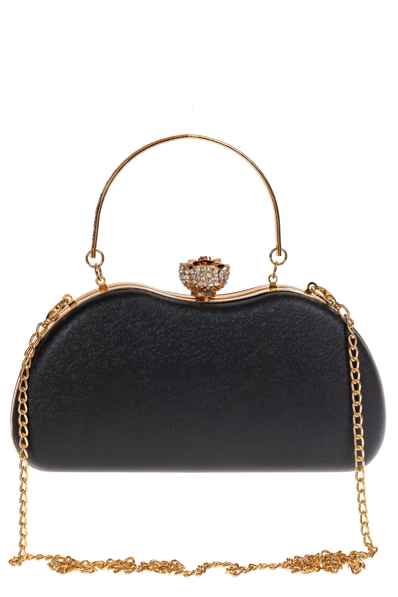 На фото 2 - Оригинальная вечерняя сумочка,  цвет черный