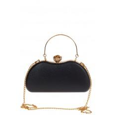 На фото 3 - Оригинальная вечерняя сумочка,  цвет черный