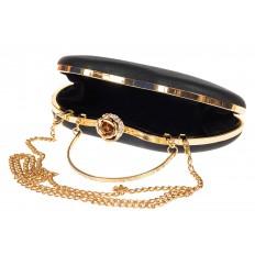 На фото 4 - Оригинальная вечерняя сумочка,  цвет черный