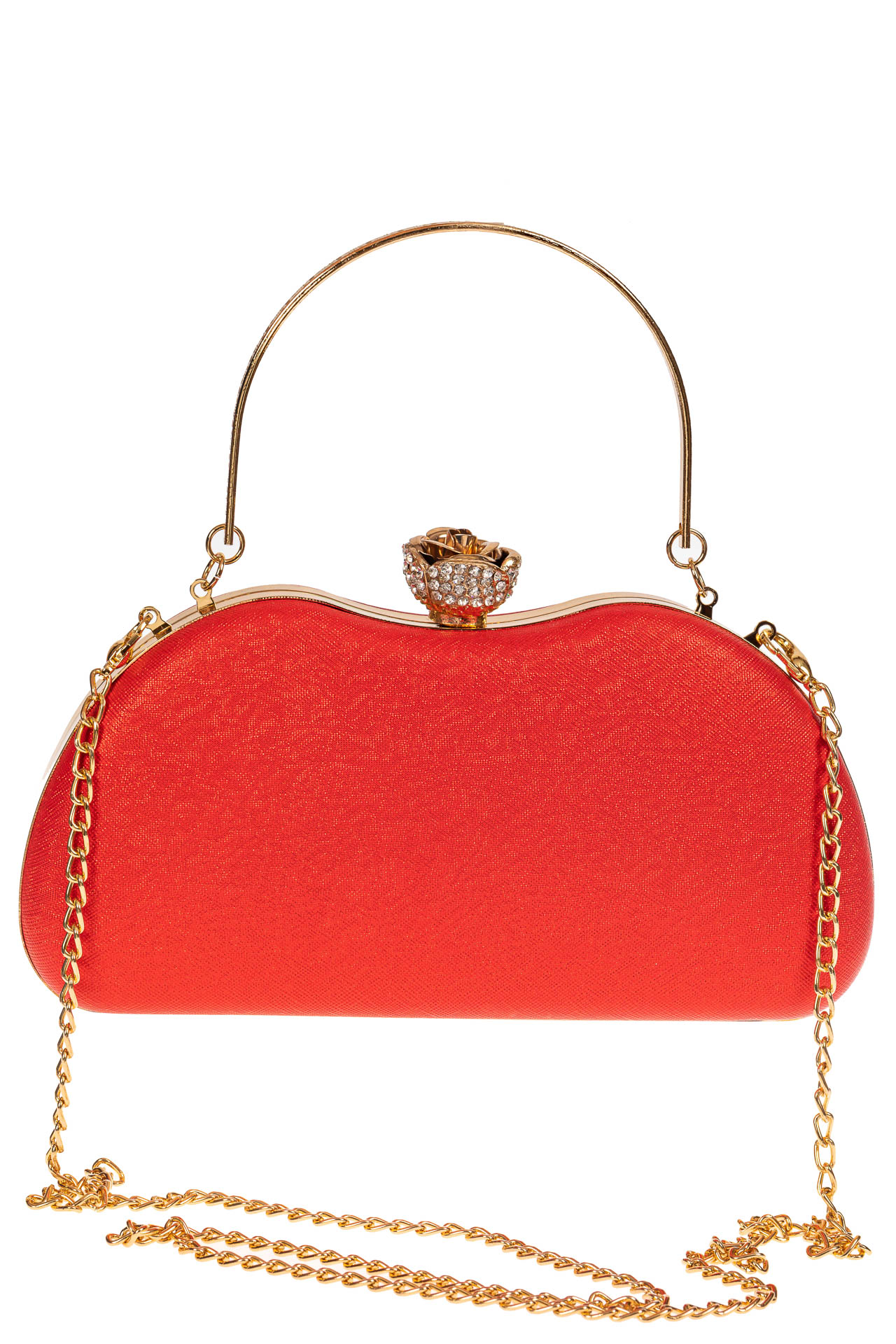 На фото 2 - Оригинальная вечерняя сумочка,  цвет красный