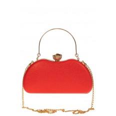 На фото 3 - Оригинальная вечерняя сумочка,  цвет красный