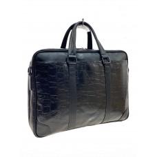 На фото 1 - Мужской портфель из искусственной кожи , черный цвет