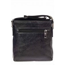 На фото 1 - Небольша сумка-почтальонка из искусственной кожи, цвет чёрный