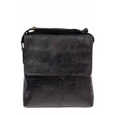 На фото 1 - Мужская сумка-мессенджер из искусственной кожи, цвет чёрный