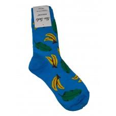 На фото 1 - Молодёжные высокие носки с ярким принтом, мультицвет
