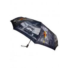 На фото 1 - Зонт складной женский с принтом