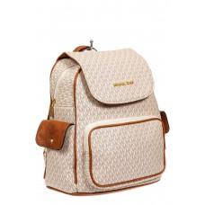 На фото 1 - Женский рюкзак из искусственной кожи, цвет светло-серый