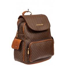 На фото 1 - Женский рюкзак из искусственной кожи, цвет шоколад
