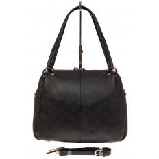 На фото 2 - Вместительная женская сумка из натуральной кожи, цвет черный