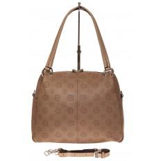 На фото 2 - Вместительная женская сумка из натуральной кожи, цвет бежевый