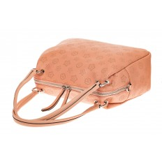 На фото 3 - Вместительная женская сумка из натуральной кожи, цвет розовый