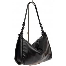 На фото 1 - Большая женская сумка из мягкой искусственной кожи, цвет чёрный