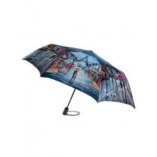 На фото 1 - Зонт женский-полуавтомат с принтом