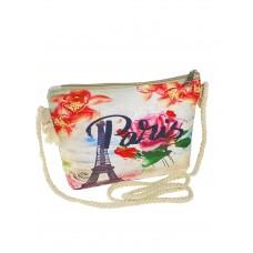 На фото 1 - Текстильная детская сумочка кросс-боди с принтом, мультицвет