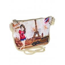 На фото 1 - Детская сумка кросс-боди из текстиля с принтом, мультицвет