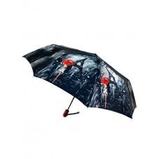 На фото 1 - Женский зонт-полуавтомат с принтом
