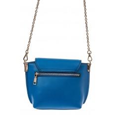На фото 2 - Женская сумка кросс-боди из натуральной кожи, цвет синий
