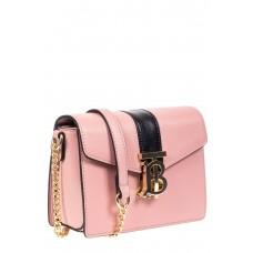 На фото 1 - Сумка кросс-боди из эко-кожи с акцентным замком, цвет розовый