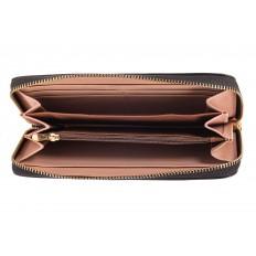 На фото 2 - Модный кошелек для денег из натуральной кожи, цвет черный