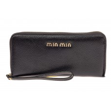 На фото 1 - Модный кошелек для денег из натуральной кожи, цвет черный