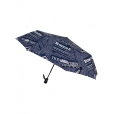 На фото 1 - Зонт молодёжный полуавтомат с надписями, цвет тёмно-синий