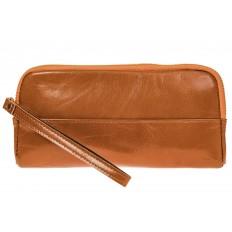 На фото 2 - Женское портмоне из натуральной кожи, цвет рыжий