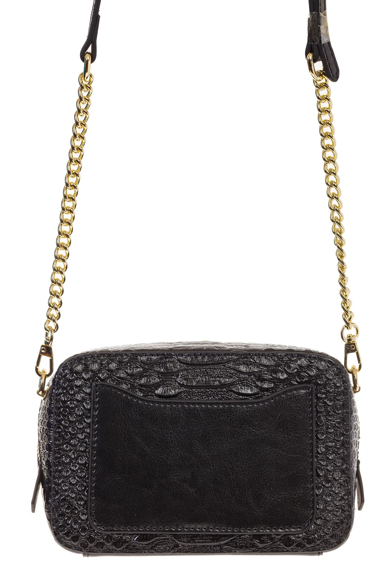 На фото 3 - Женская сумка-коробочка черного цвета 13G178Z