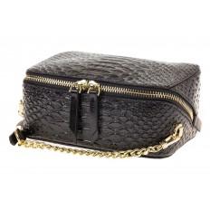 На фото 4 - Женская сумка-коробочка черного цвета 13G178Z