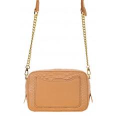 На фото 3 - Женская сумка-коробочка бежевого цвета 13G178Z