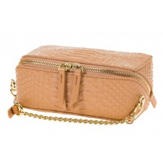 На фото 4 - Женская сумка-коробочка бежевого цвета 13G178Z