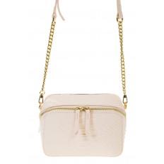 На фото 2 - Женская сумка-коробочка белого цвета 13G178Z