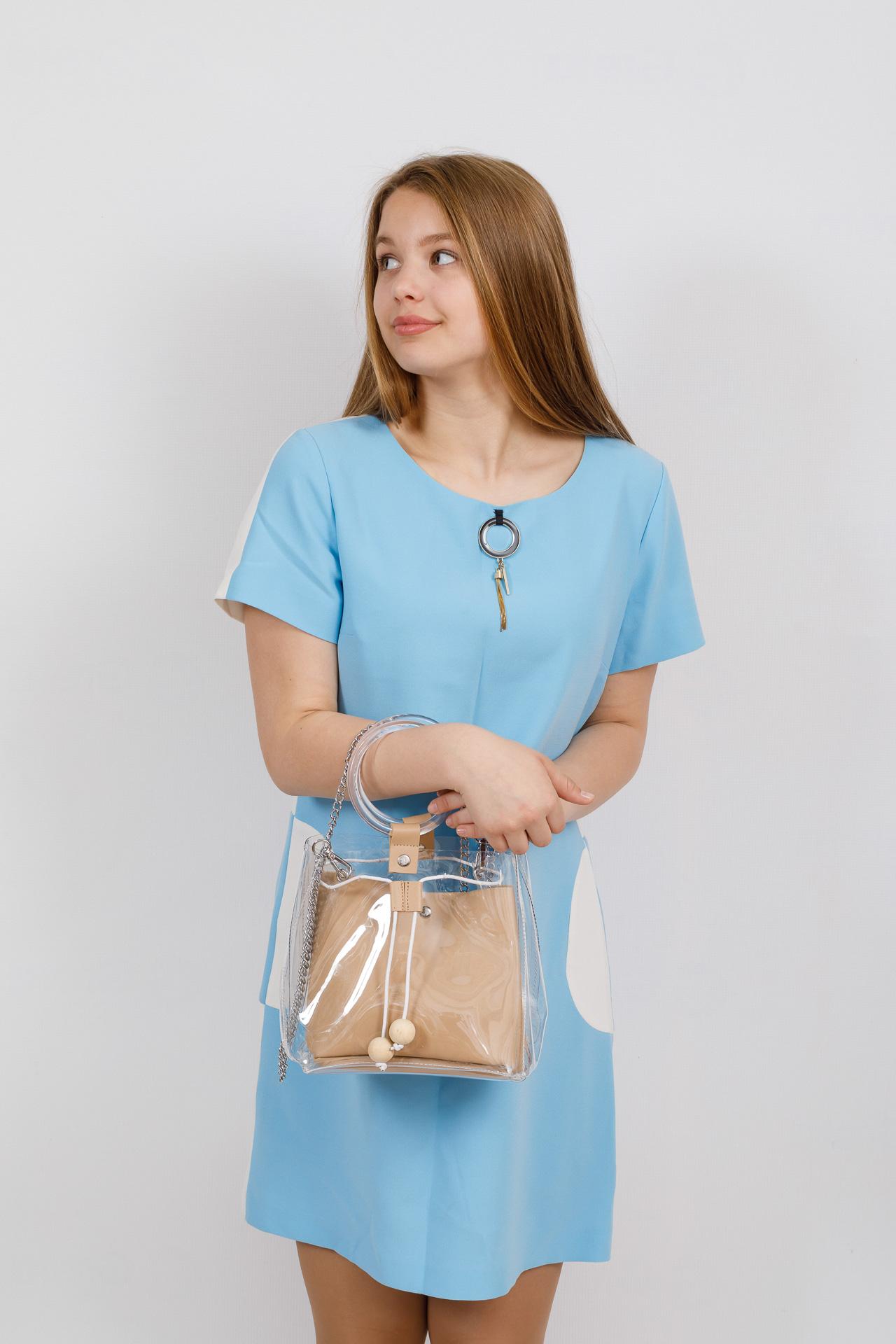 На фото 4 - Ring-bag из винила и эко-кожи, цвет бежевый