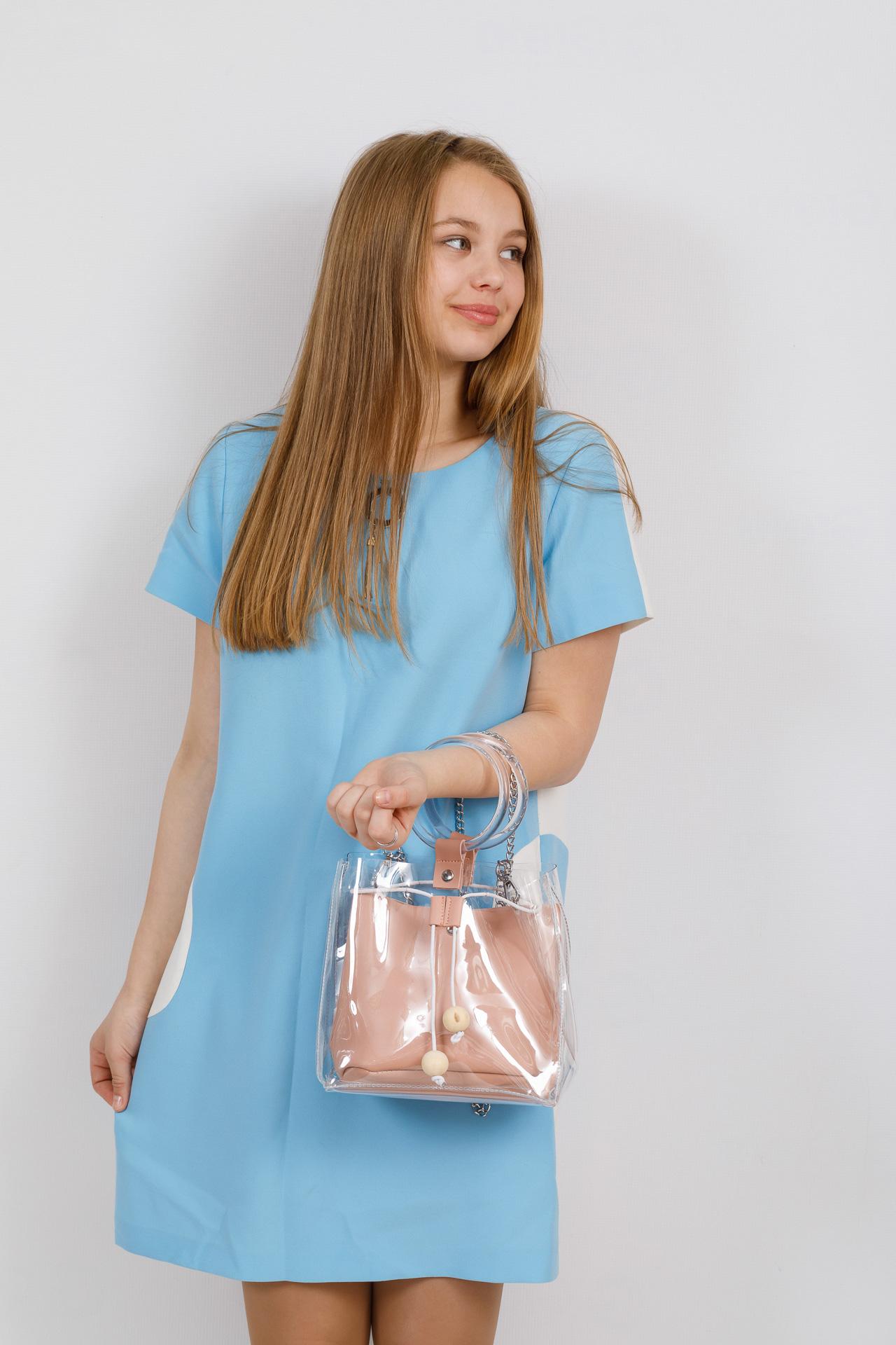 На фото 4 - Недорогой ring-bag из винила и эко-кожи, цвет розовый