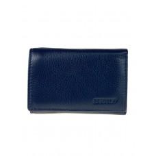 На фото 1 - Женский кошелёк из мягкой натуральной кожи, цвет тёмно-синий