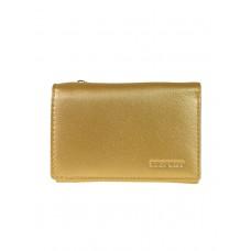 На фото 1 - Женский кошелёк из мягкой натуральной кожи, цвет золотой