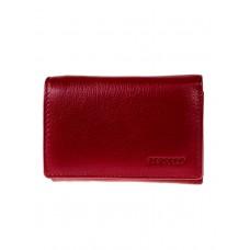 На фото 1 - Женский кошелёк из мягкой натуральной кожи, цвет бордовый